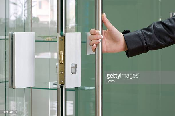 open the door - long sleeved stock pictures, royalty-free photos & images