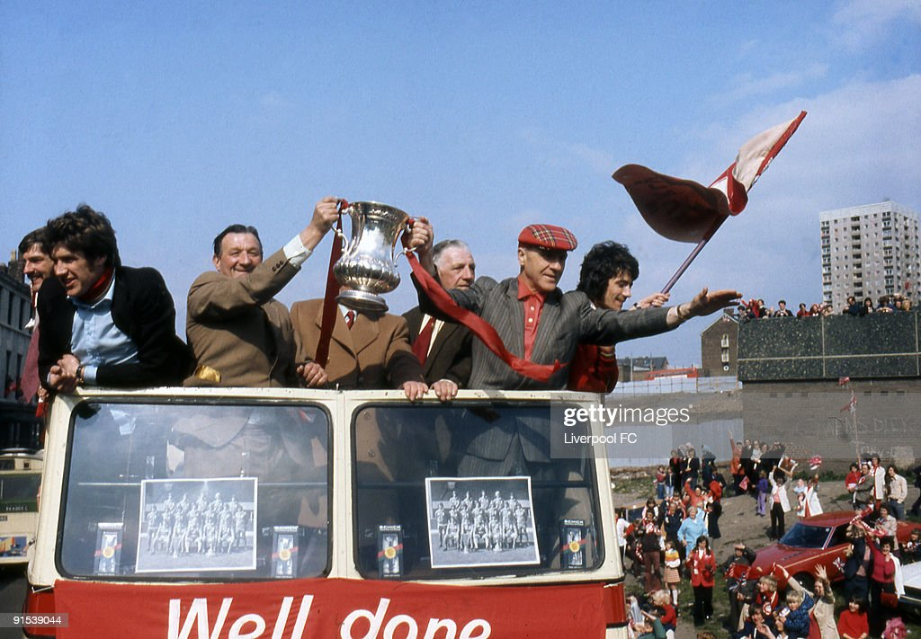 Liverpool FC 1974 FA Cup Victory Parade : News Photo