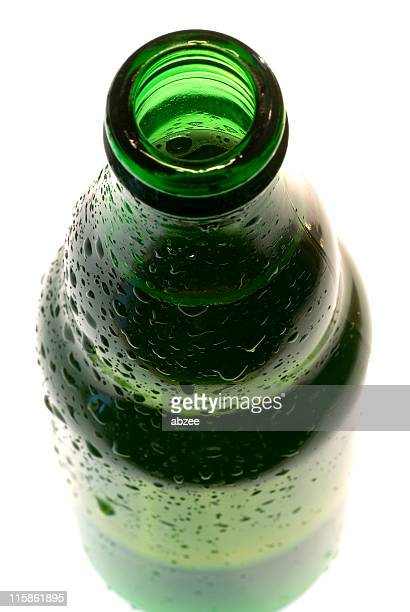 Open top of beer bottle, high key