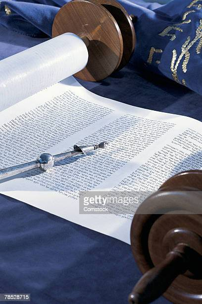 open torah with yad - torah stock pictures, royalty-free photos & images