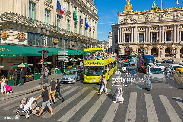 Open Tour Bus at the front of Paris Opera, Paris