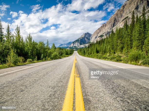 Open Trans-Canada Highway Canadian Rocky Mountains