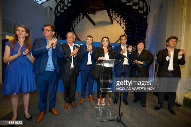 Open Vld's Els Ampe Oostende Mayor Bart Tommelein Open Vld's head of group Patrick Dewael Open Vld's Bart Somers Open Vld chairwoman Gwendolyn Rutten...