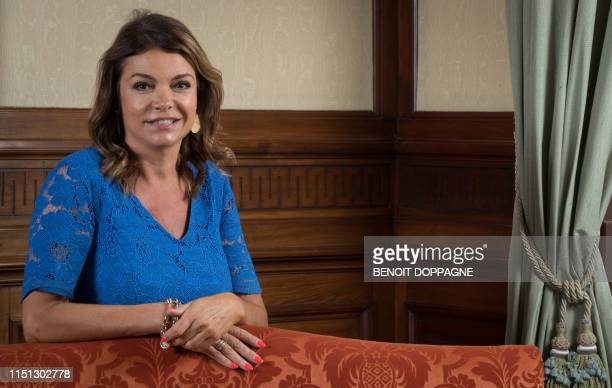 Open Vld's Goedele Liekens poses during a photoshoot, Thursday 20 June 2019, at the Chamber at the federal parliament in Brussels. BELGA PHOTO BENOIT...
