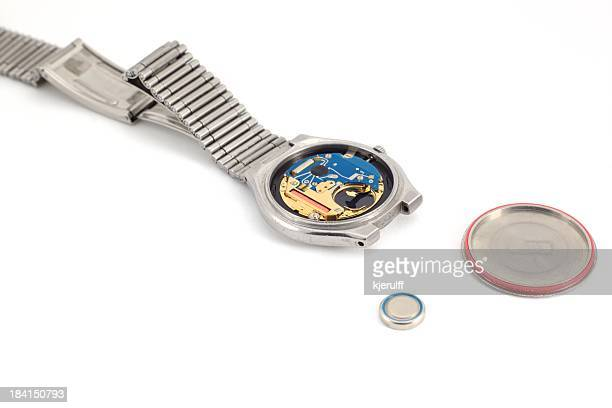 Open watch with battery
