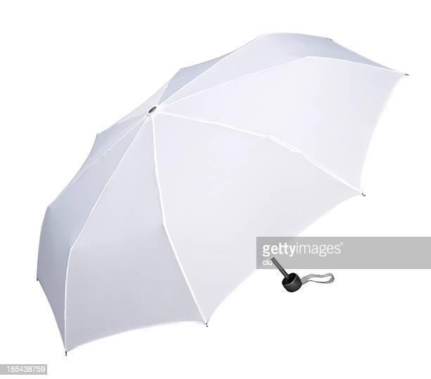 Open white umbrella