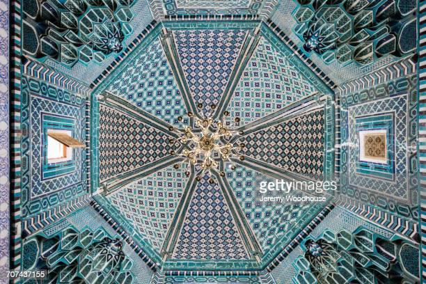 Open window in ornate ceiling