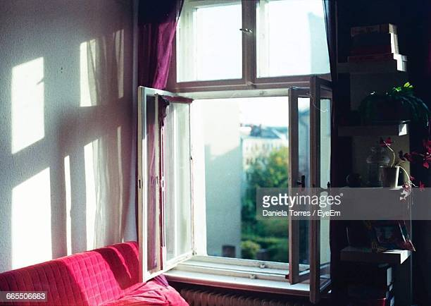Open Window In Room At Home