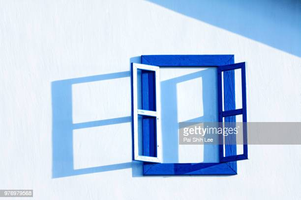 Open window on white wall, Taiwan
