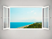Open Window With Beautiful View