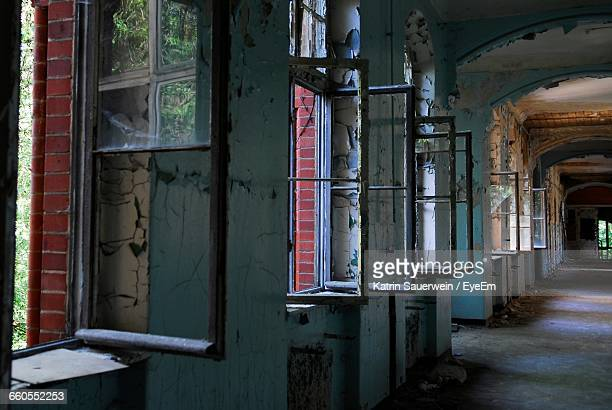 Open Windows Of Abandoned Building