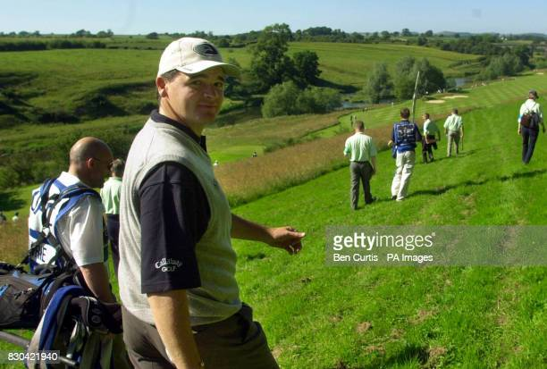 Open winner Paul Lawrie on the course at the Roxburghe Challenge 2000 at the Roxburgh Golf Course near Kelso Scotland The Duke of York joined former...