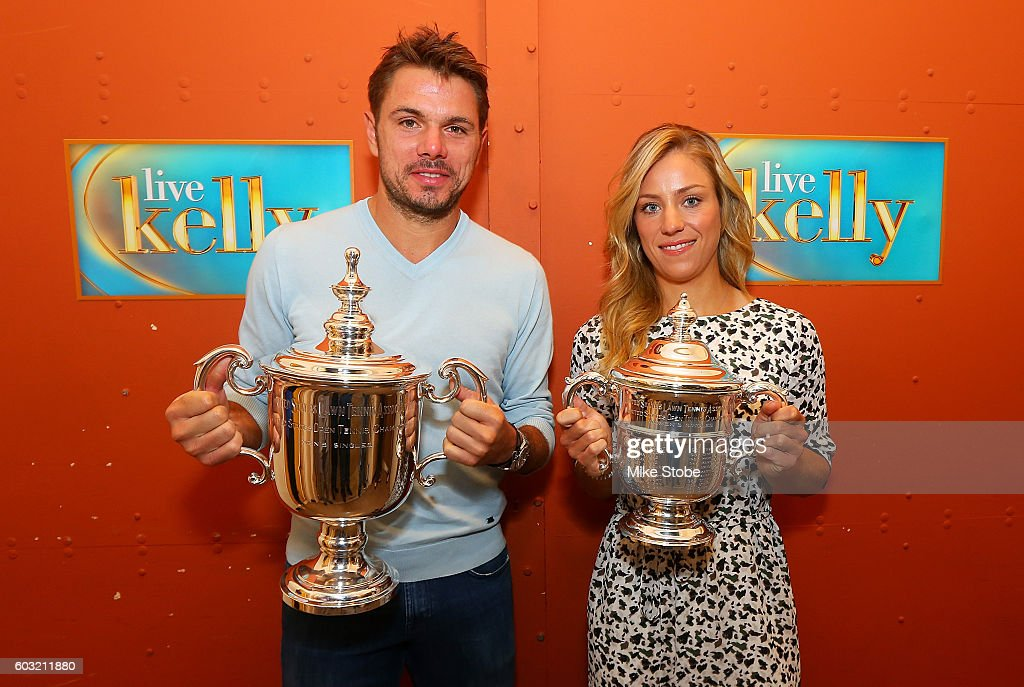 2016 US Open Champion Angelique Kerber New York City Trophy Tour : News Photo