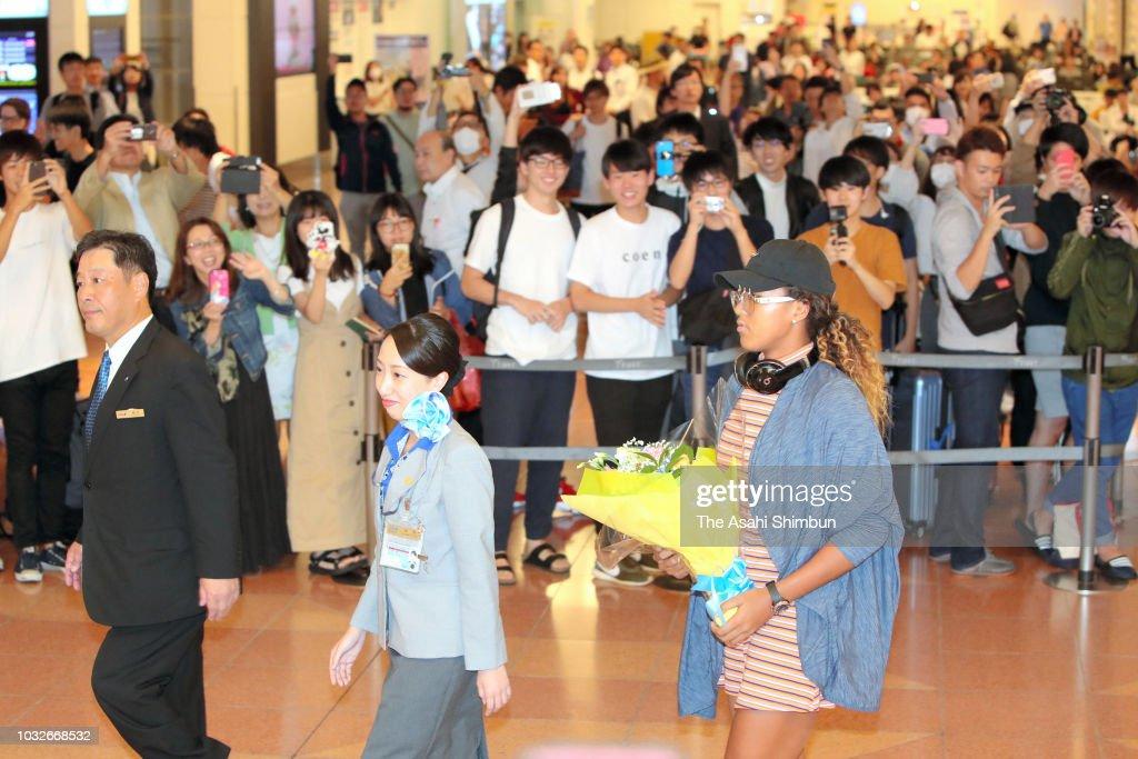 Naomi Osaka Returns Home : News Photo