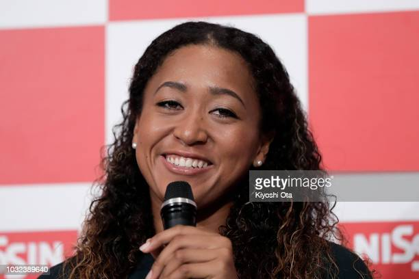 Open Women's Singles champion Naomi Osaka of Japan speaks during a press conference on September 13 2018 in Yokohama Kanagawa Japan