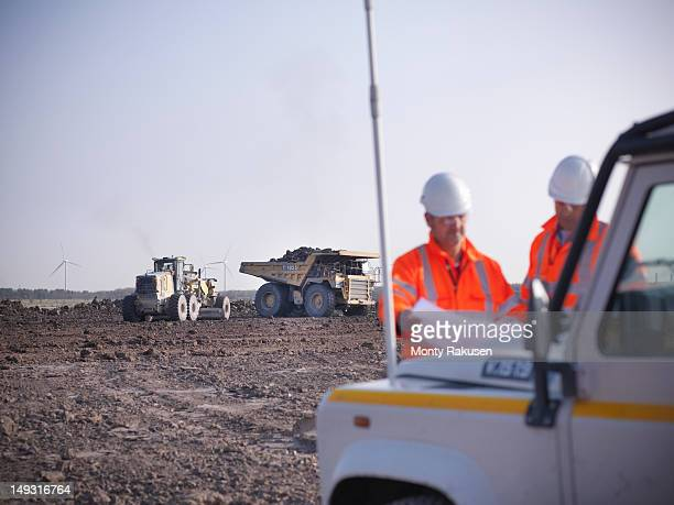 Opencast coalminers looking at plans