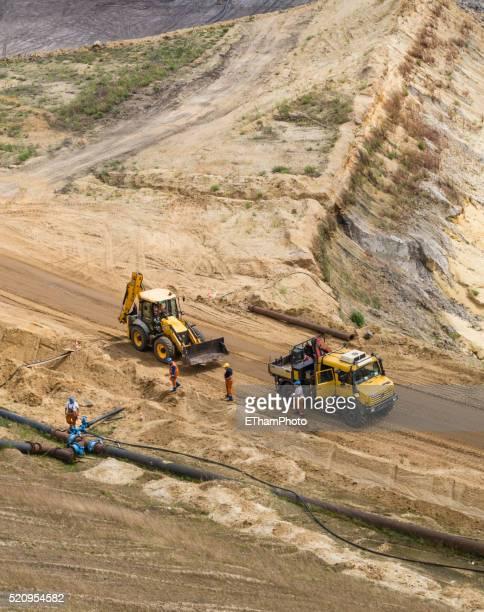 Opencast mining field at Garzweiler, Germany