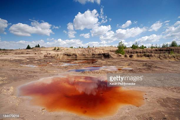 opencast mining landscape south of leipzig, saxony, germany, europe - scarce stock pictures, royalty-free photos & images