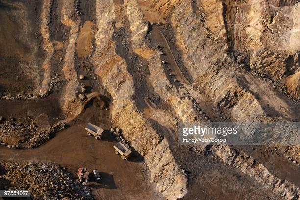 Opencast mining pit