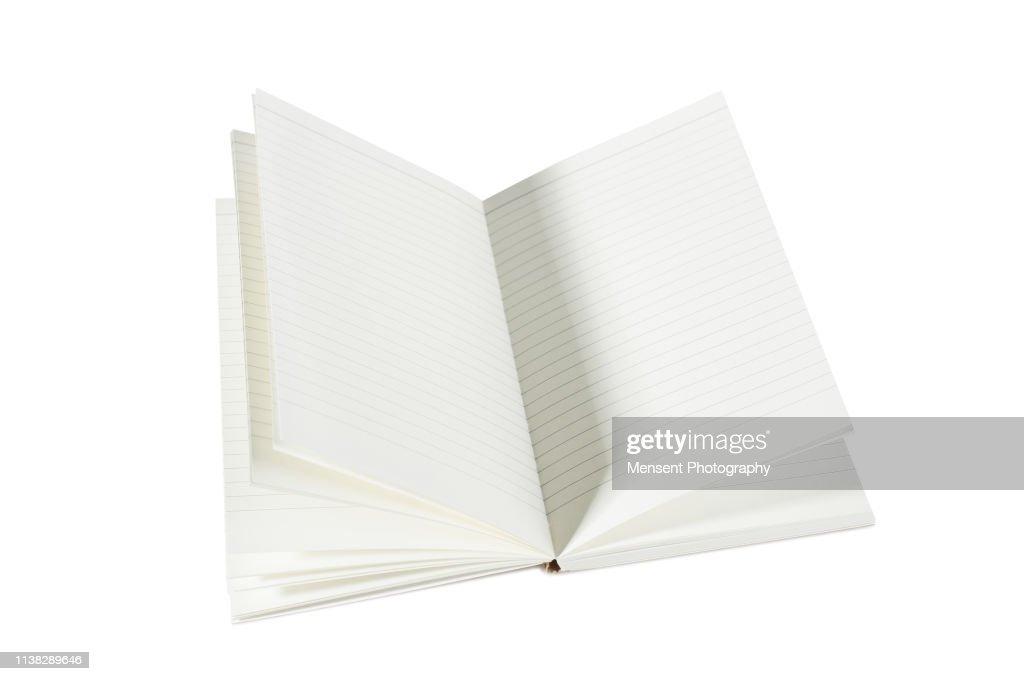 Opened blank magazine book for white background : Stock Photo
