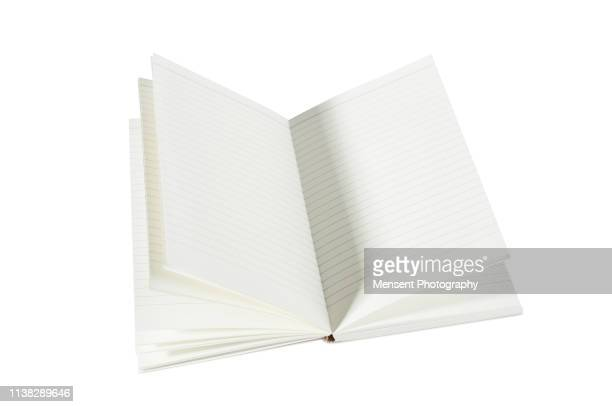 Opened blank magazine book for white background