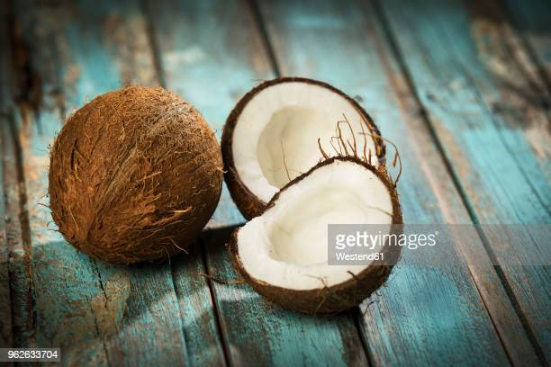 opened coconut, close-up - coconut stock pictures, royalty-free photos & images