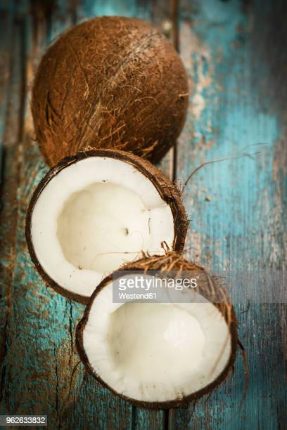 Opened coconut, close-up