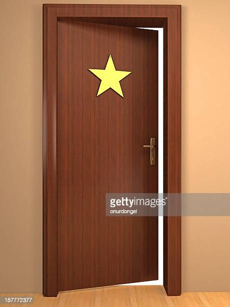opened door to become a star - dressing room stock pictures, royalty-free photos & images