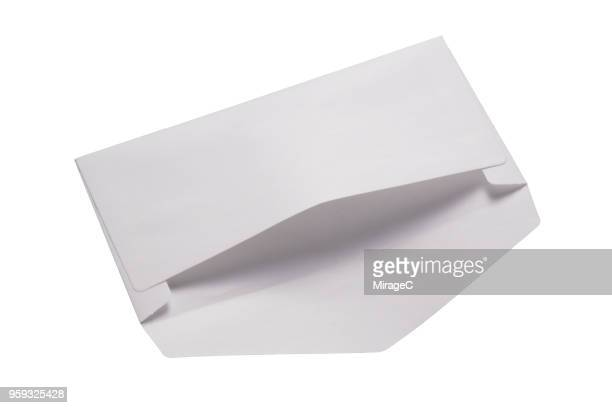 opened white envelope - miragec stock pictures, royalty-free photos & images