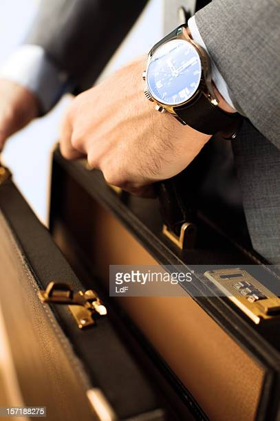 Opening a briefcase