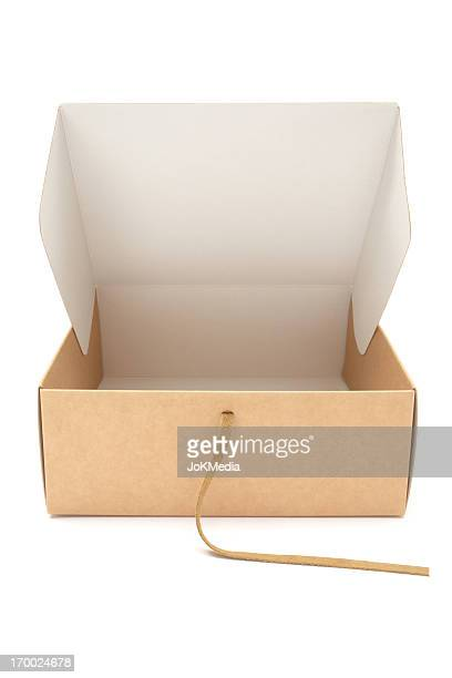 Opening a Cardboard Gift Box