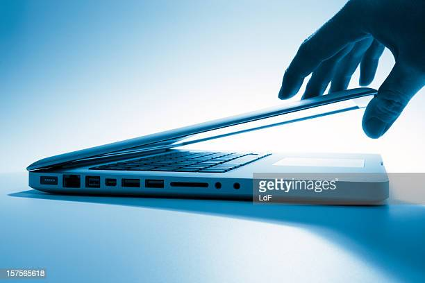 Opening a laptop screen