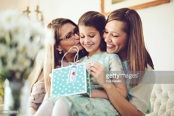 Opening a mother's day present together
