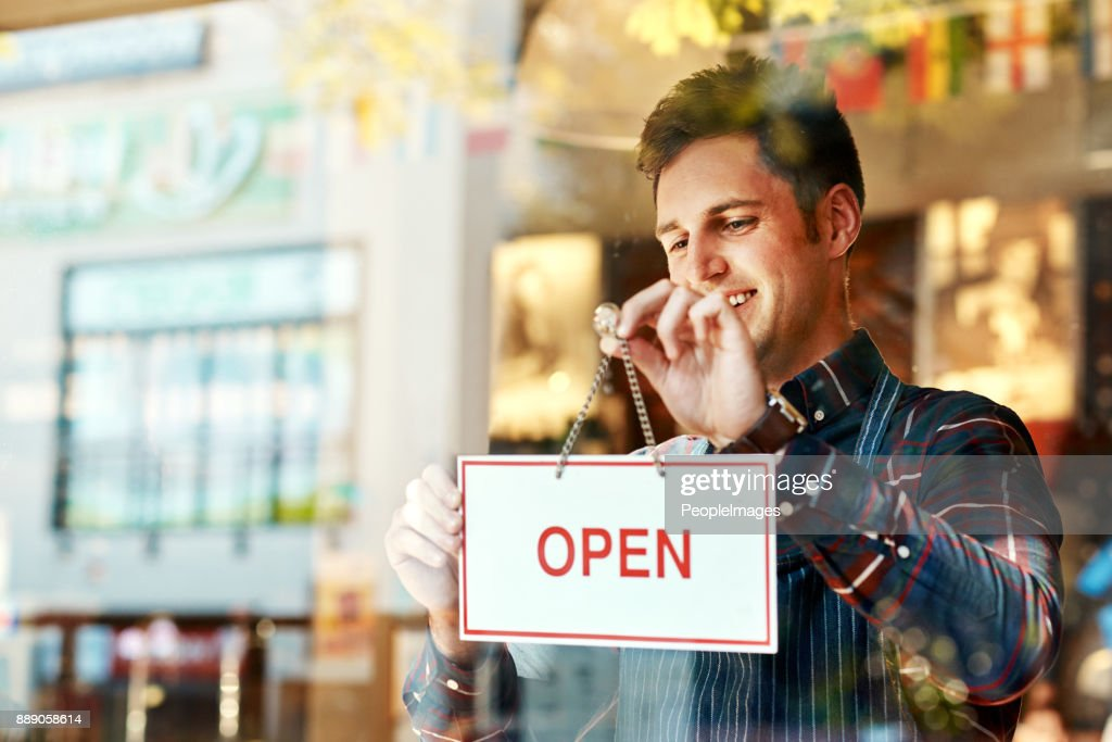 Opening a restaurant takes planning, time, money and passion : Stock Photo