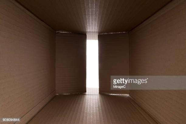 Opening Cardboard Box