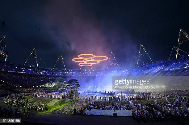Opening Ceremonies for The 2012 London Olympic Games at Olympic Stadium, London.