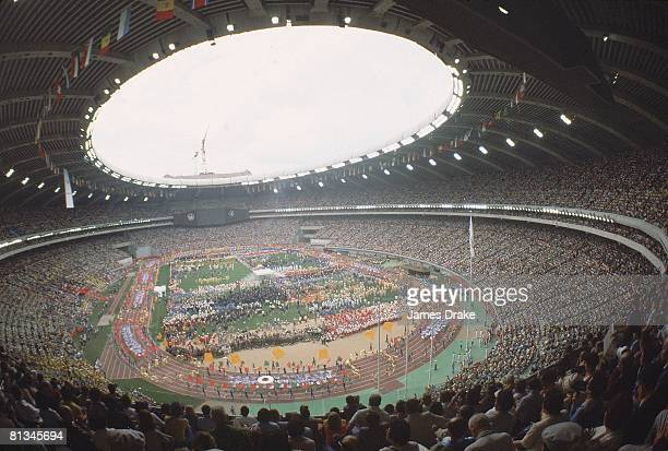 Opening Ceremony 1976 Summer Olympics View of Olympic Stadium Montreal CAN 7/17/1976