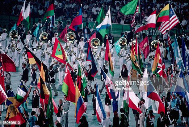 opening ceremony, 1996 atlanta olympic games - 1996 summer olympics atlanta stock pictures, royalty-free photos & images