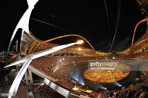 Opening Ceremony: 2004 Summer Olympics, View of Olympic Stadium, Athens, GRC 8/13/2004