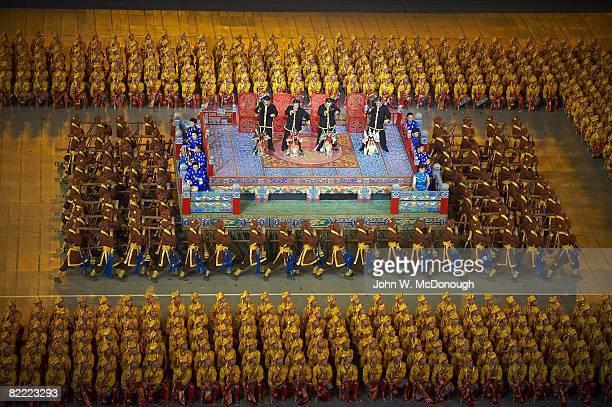 2008 Summer Olympics View of performers at National Stadium Beijing China 8/8/2008 CREDIT John W McDonough