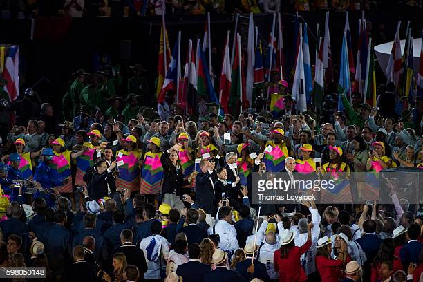 2016 Summer Olympics Refugee Olympic Team marches under Olympic flag during Parade of Nations at Maracana Stadium Rio de Janeiro Brazil 8/5/2016...