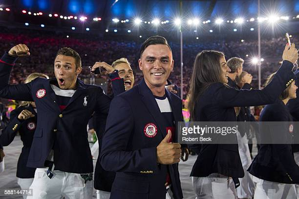 2016 Summer Olympics View of golfer Rickie Fowler during Parade of Nations at Maracana Stadium Rio de Janeiro Brazil 8/5/2016 CREDIT Robert Beck