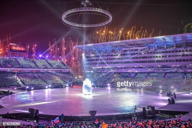 Opening ceremony at 2018 Pyeongchang winter olympics at Pyeongchang olympic stadium Pyeongchang South Korea February 09 2018 Ulrik Pedersen/Nurphoto