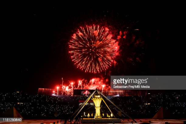 Opening ceremony at Cairo International Stadium at 2019 Africa Cup of Nations Group A match between Egypt and Zimbabwe at Cairo International Stadium...