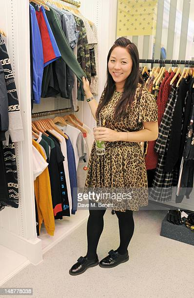 Opening Ceremony designer Carol Lim attends the launch of the Opening Ceremony PopUp Store in Covent Garden on July 19 2012 in London England