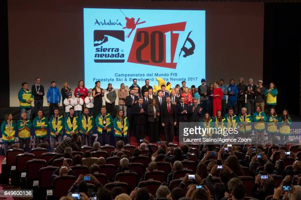 Opening Ceremony during the FIS Freestyle Ski Snowboard World Championships Moguls on March 08 2017 in Sierra Nevada Spain