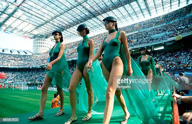 Opening Ceremony for the 1990 World Cup at the Guiseppe Meazza Stadium on June 09 in Milan Italy