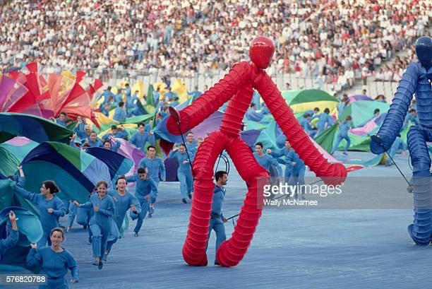 opening ceremony for the 1992 barcelona olympics - olympisk stadion bildbanksfoton och bilder