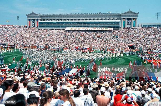 Opening Ceremony for the 1994 World Cup at the Soldier Field Stadium on June 16 1994 in Chicago United States