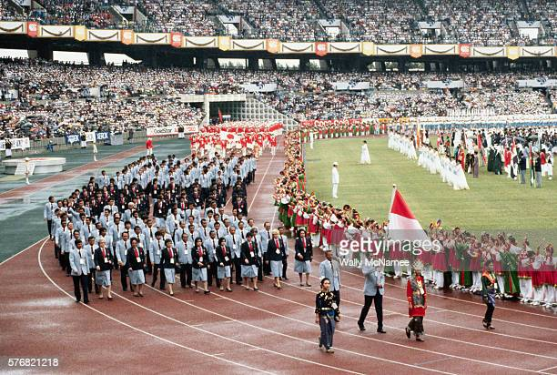 opening ceremony for the seoul summer olympic games - opening event stock pictures, royalty-free photos & images